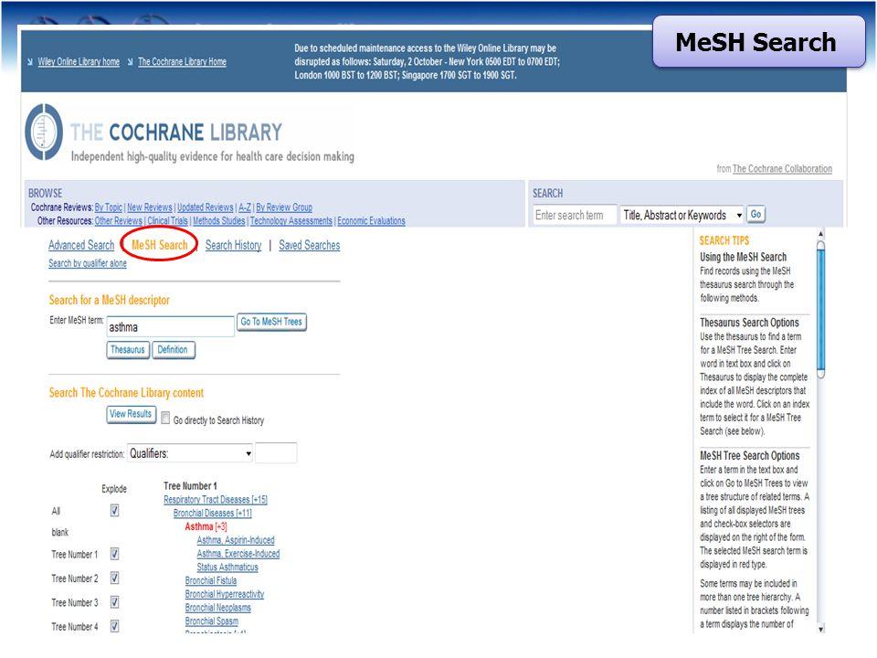 MeSH Search
