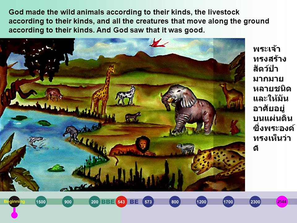 God made the wild animals according to their kinds, the livestock according to their kinds, and all the creatures that move along the ground according to their kinds. And God saw that it was good.
