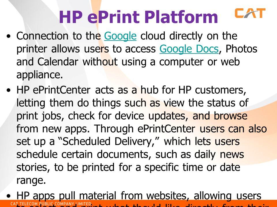 HP ePrint Platform