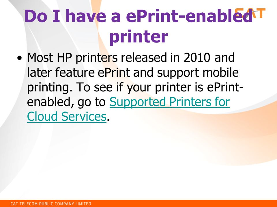 Do I have a ePrint-enabled printer