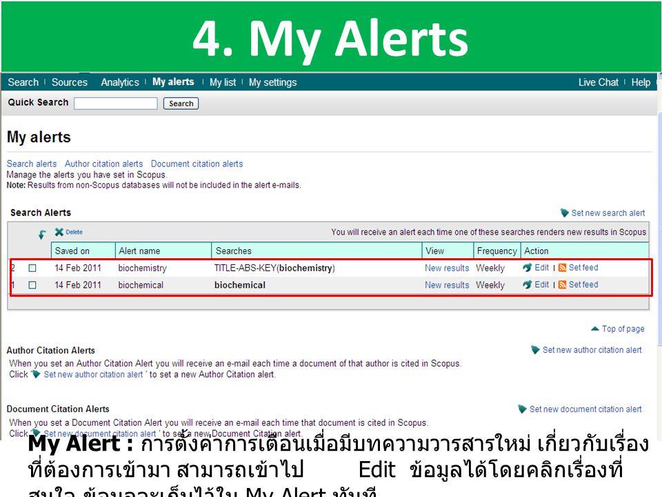 4. My Alerts
