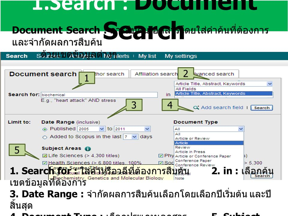 1.Search : Document Search