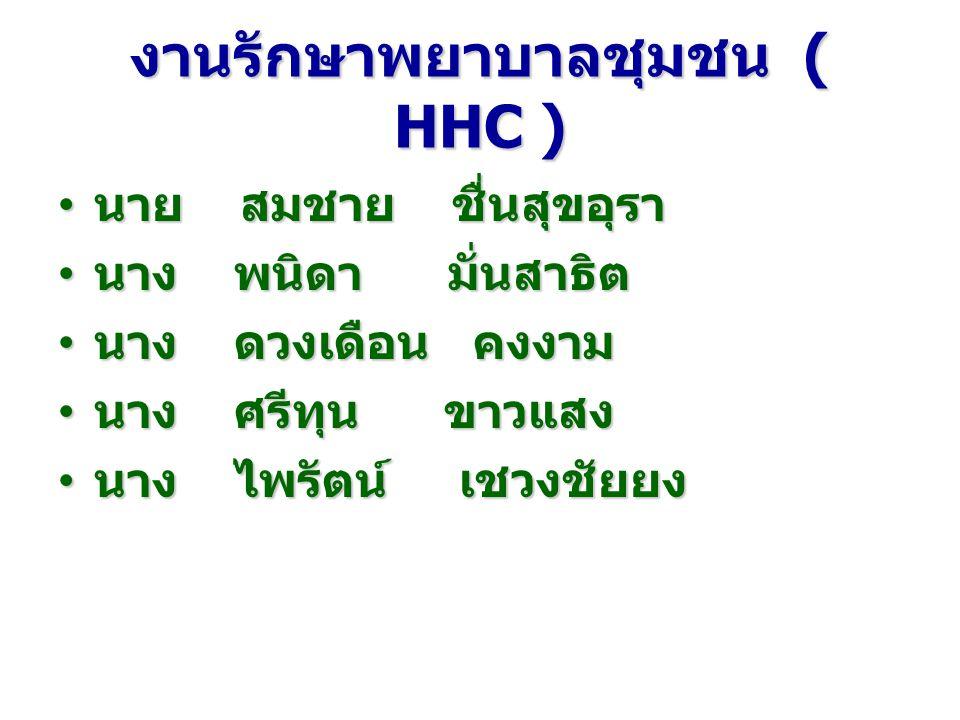 งานรักษาพยาบาลชุมชน ( HHC )
