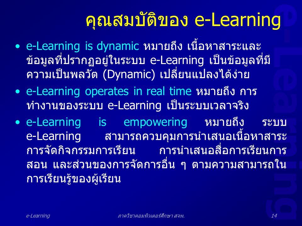 คุณสมบัติของ e-Learning