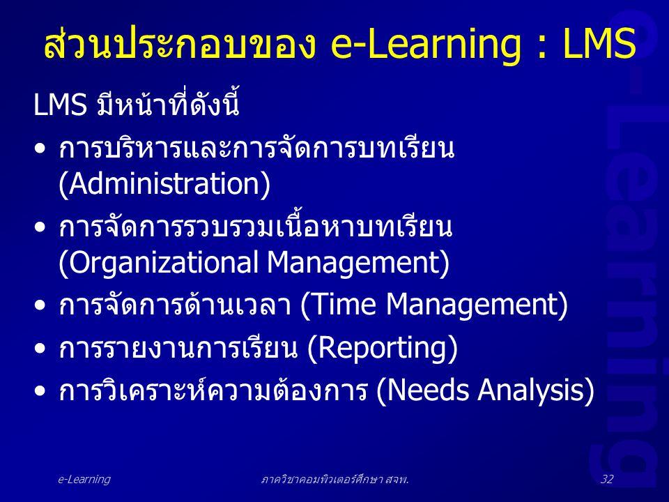 ส่วนประกอบของ e-Learning : LMS