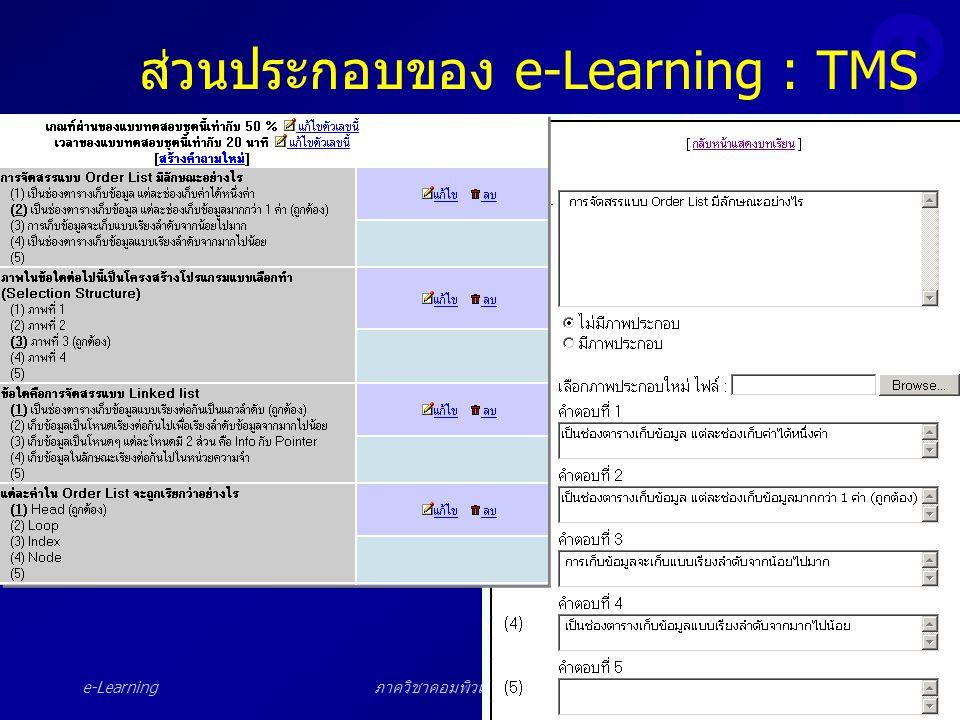 ส่วนประกอบของ e-Learning : TMS