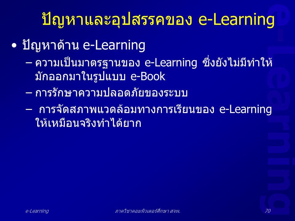 ปัญหาและอุปสรรคของ e-Learning