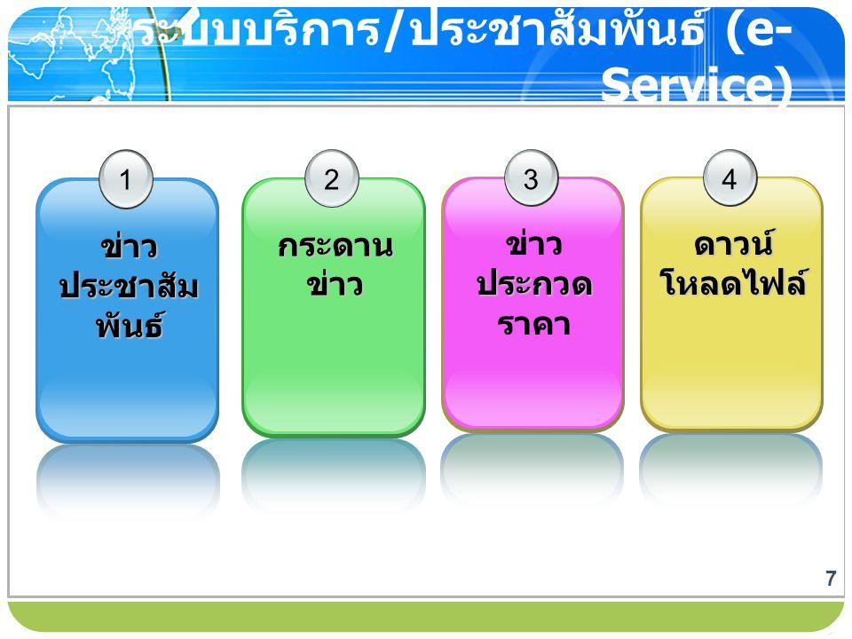 ระบบบริการ/ประชาสัมพันธ์ (e-Service)