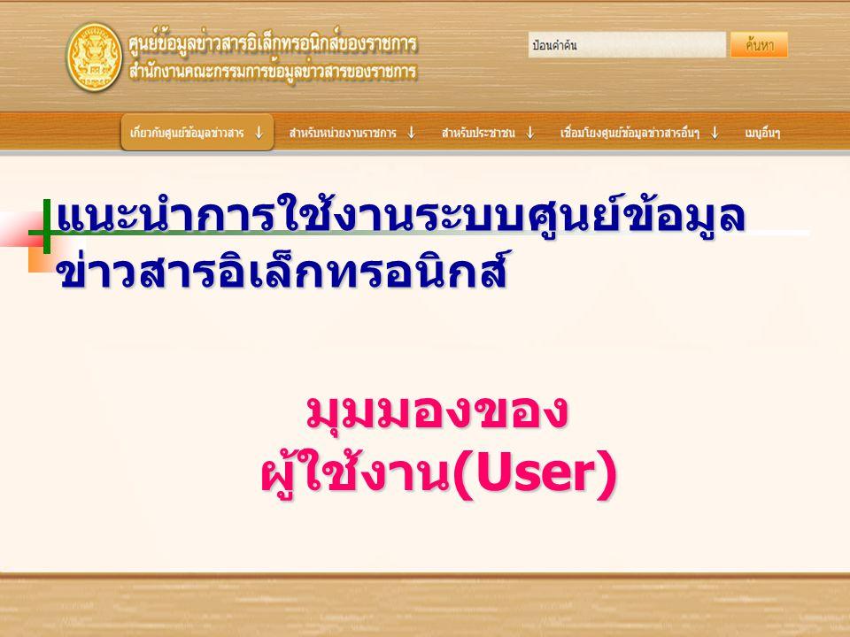 มุมมองของผู้ใช้งาน(User)