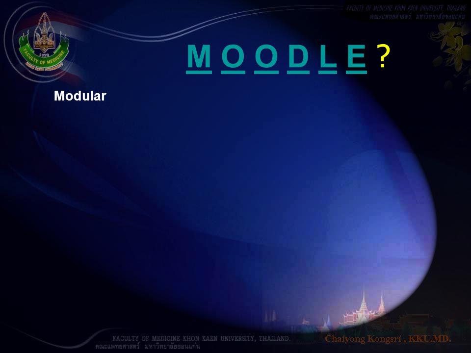 M O O D L E Modular