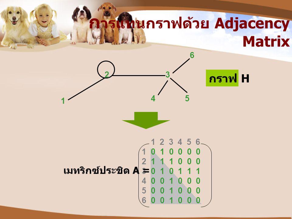 การแทนกราฟด้วย Adjacency Matrix
