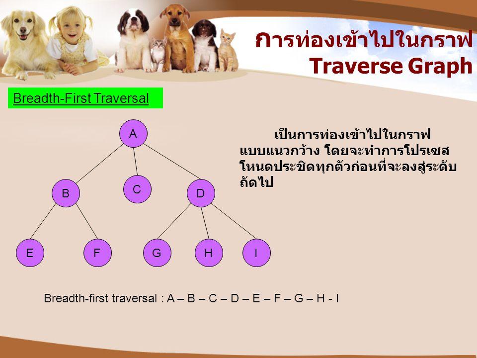 การท่องเข้าไปในกราฟ Traverse Graph