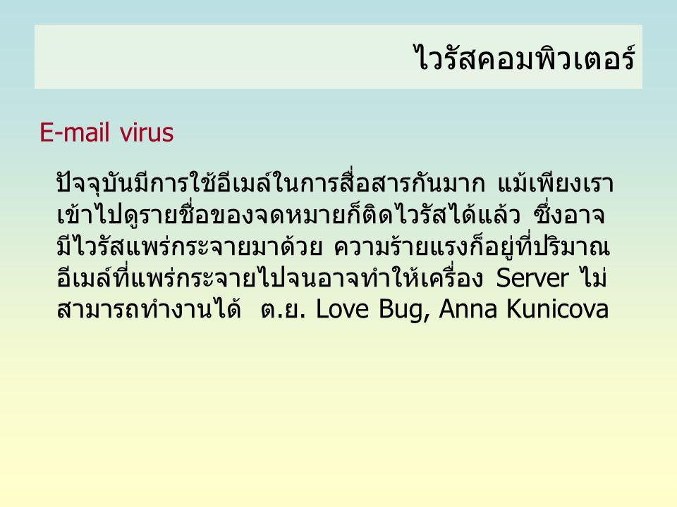 ไวรัสคอมพิวเตอร์ E-mail virus