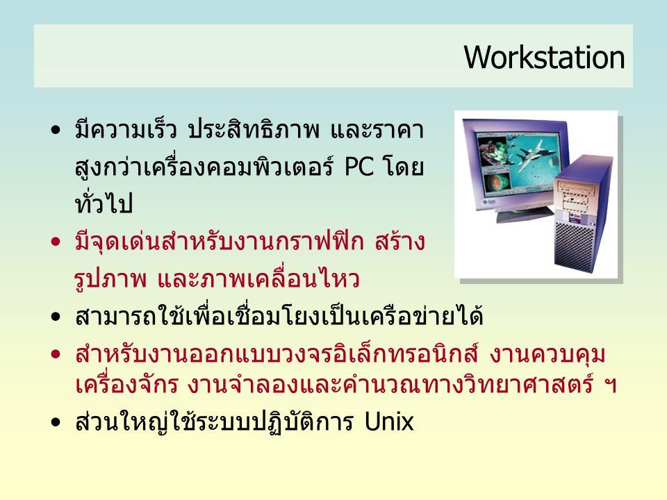 Workstation มีความเร็ว ประสิทธิภาพ และราคา