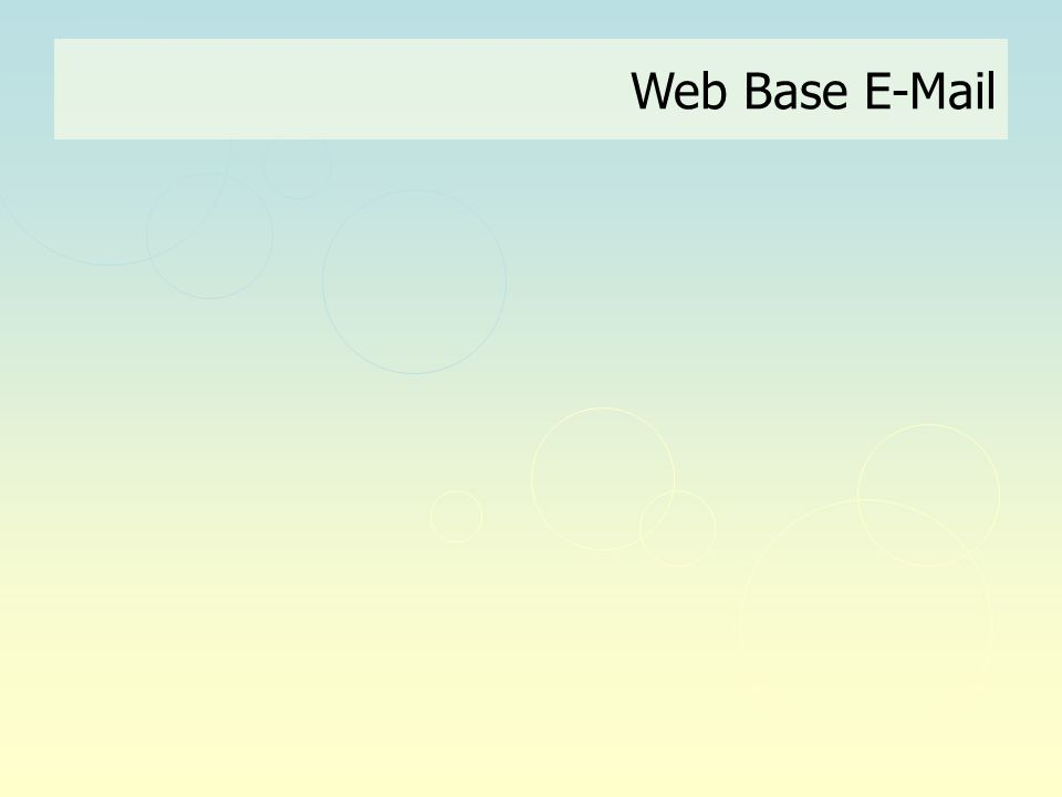 Web Base E-Mail