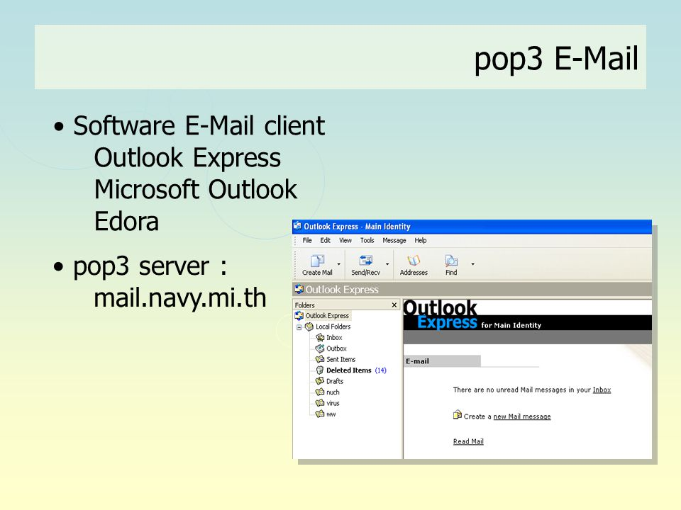 pop3 E-Mail Software E-Mail client Outlook Express Microsoft Outlook