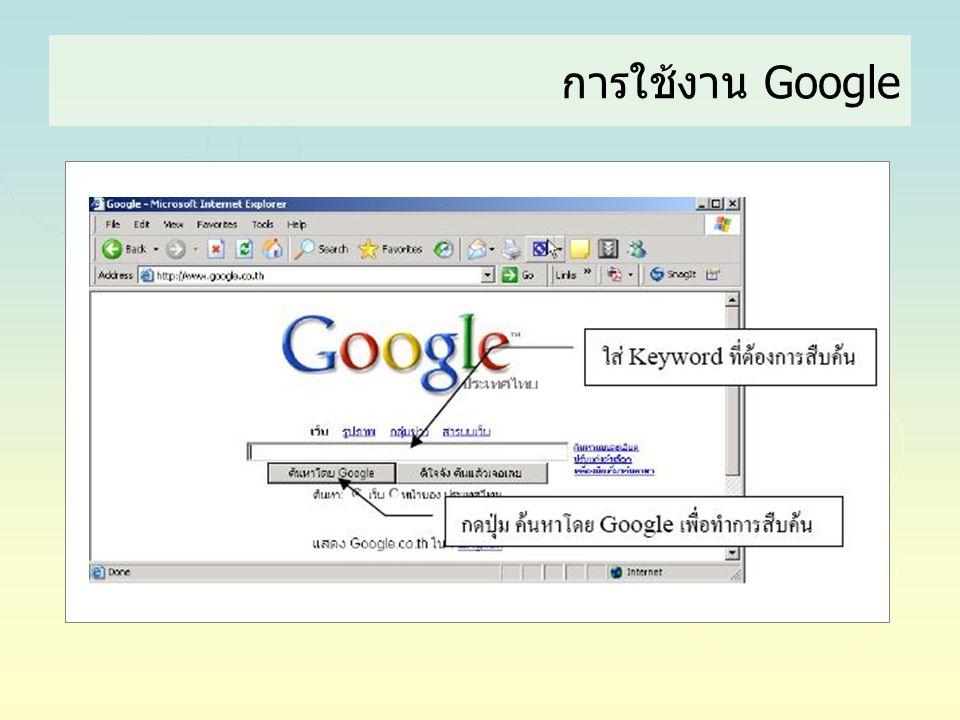 การใช้งาน Google