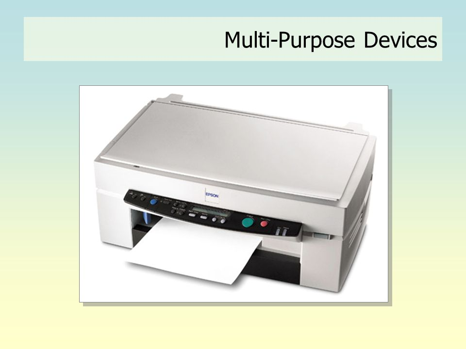 Multi-Purpose Devices