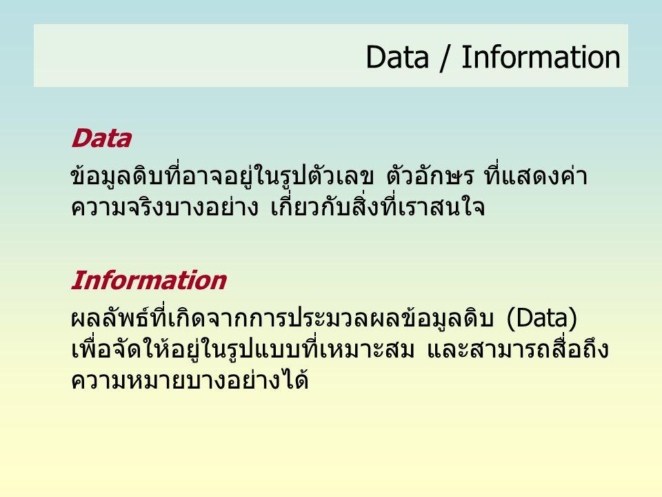 Data / Information Data