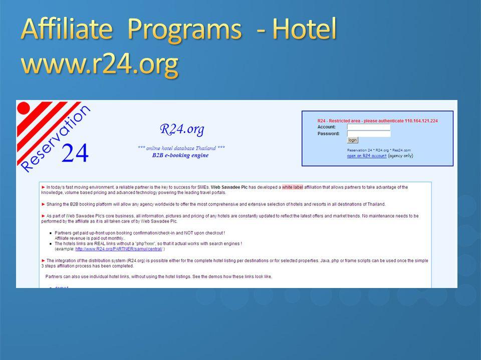 Affiliate Programs - Hotel www.r24.org