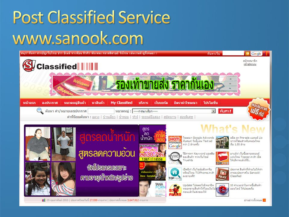Post Classified Service www.sanook.com