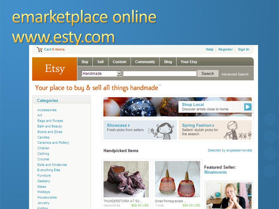 emarketplace online www.esty.com