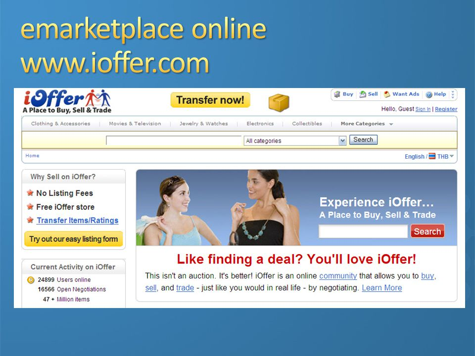 emarketplace online www.ioffer.com