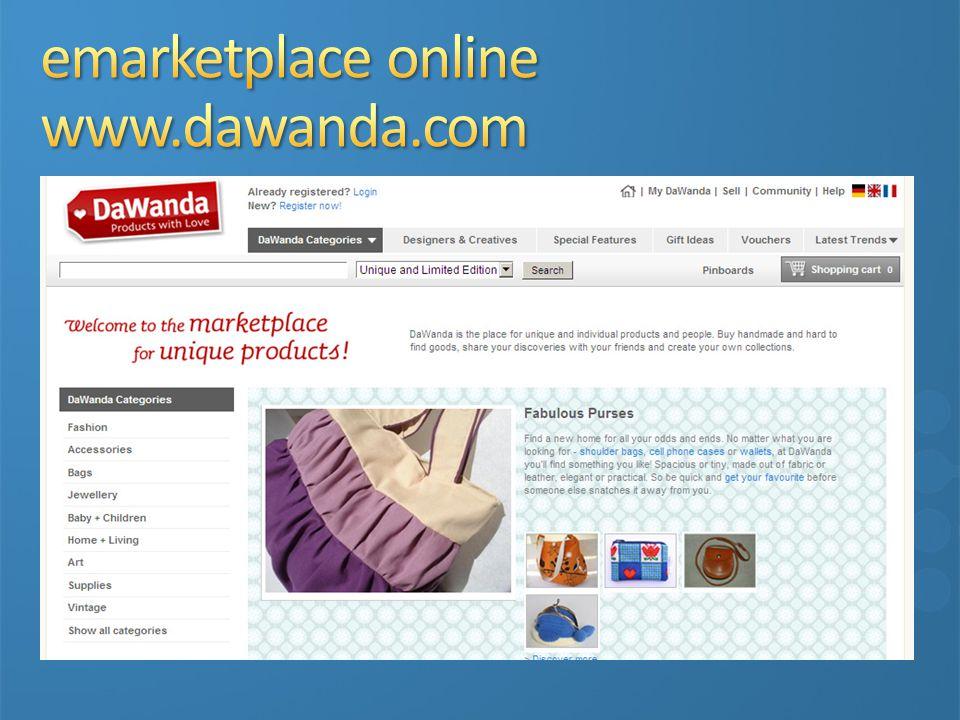 emarketplace online www.dawanda.com