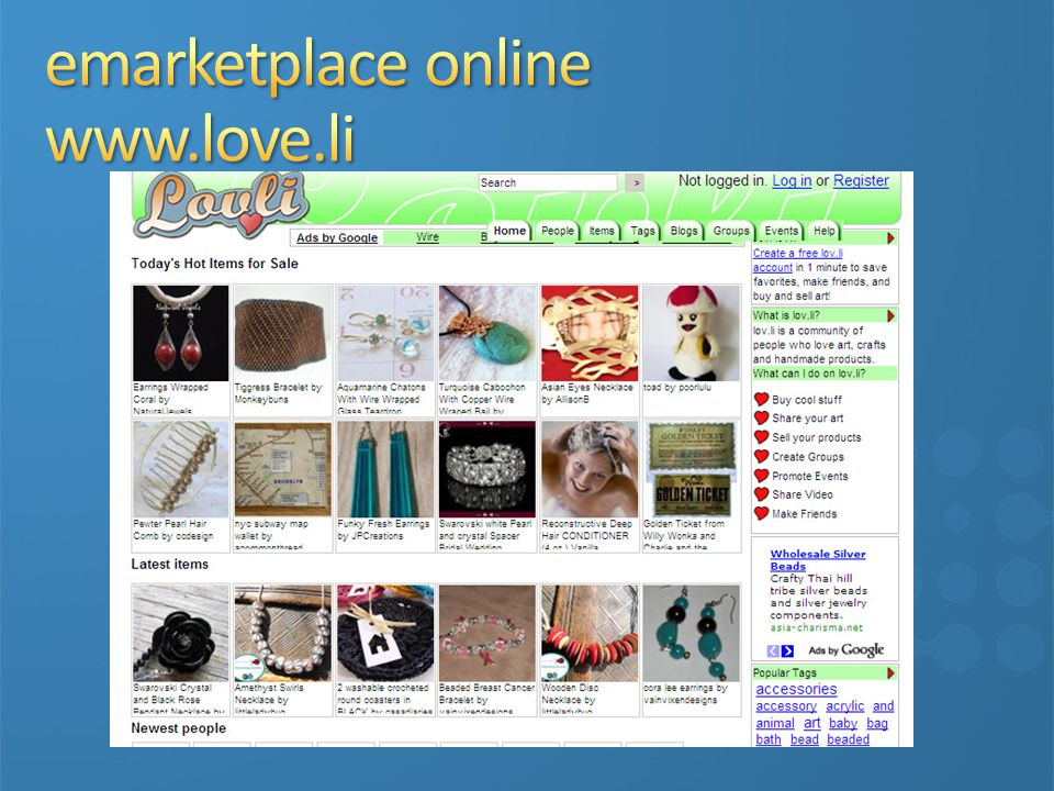 emarketplace online www.love.li