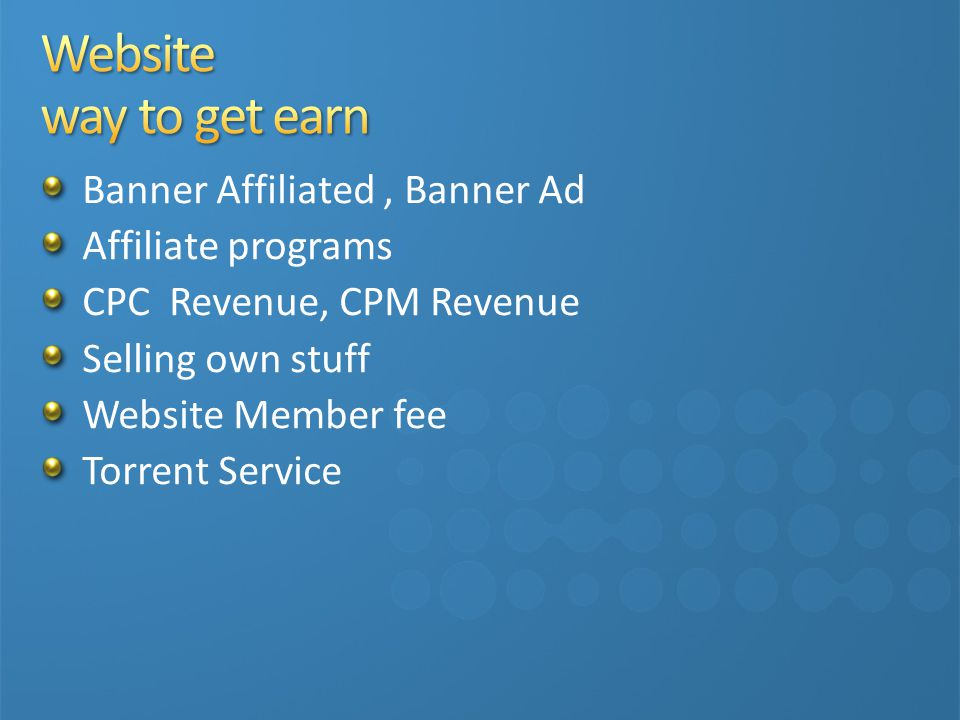 Website way to get earn Banner Affiliated , Banner Ad