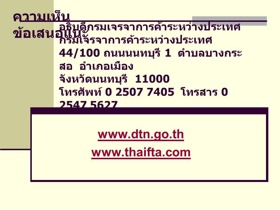 www.dtn.go.th www.thaifta.com