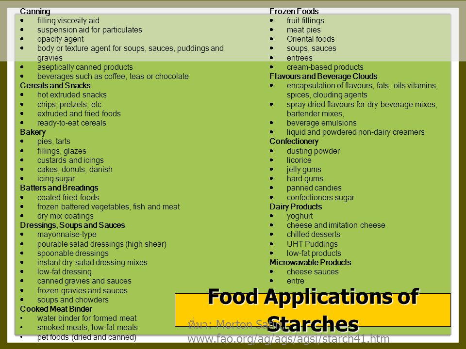 Food Applications of Starches