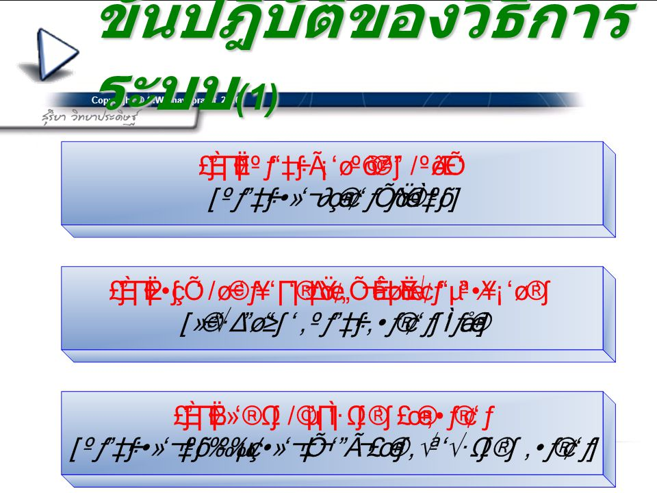 ขั้นปฎิบัติของวิธีการระบบ(1)