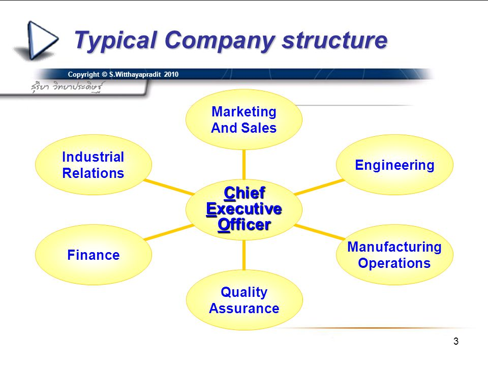 Typical Company structure