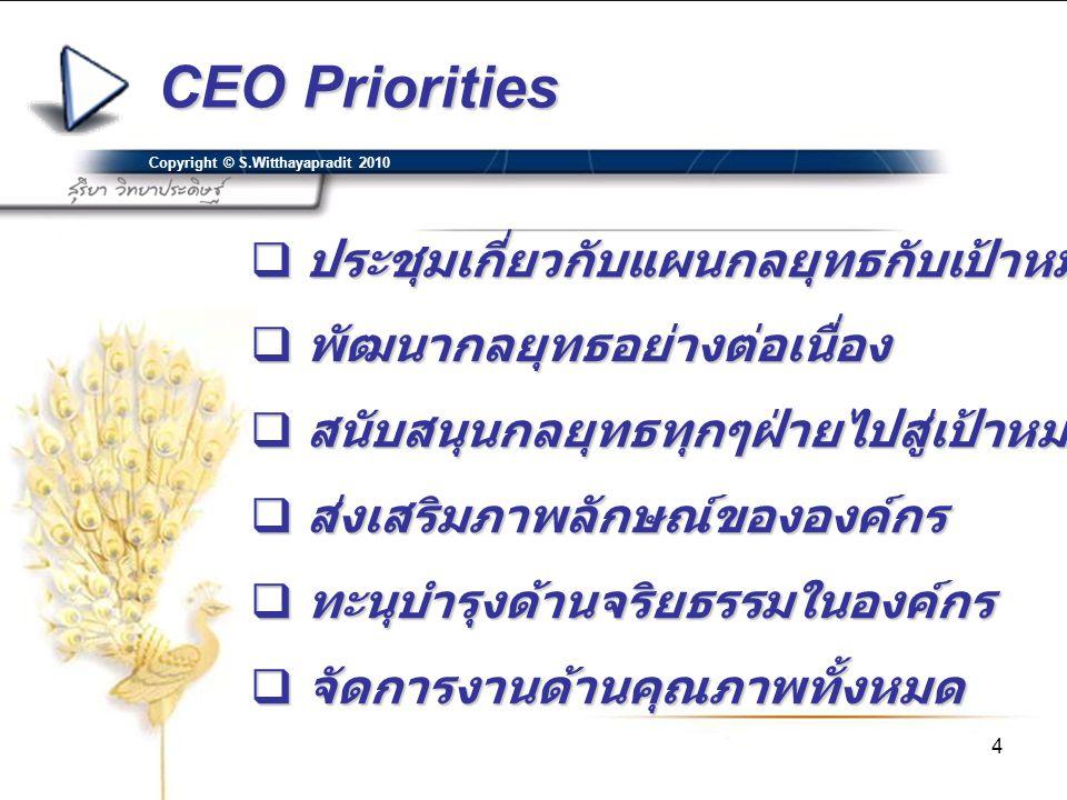 CEO Priorities ประชุมเกี่ยวกับแผนกลยุทธกับเป้าหมายความสำเร็จ