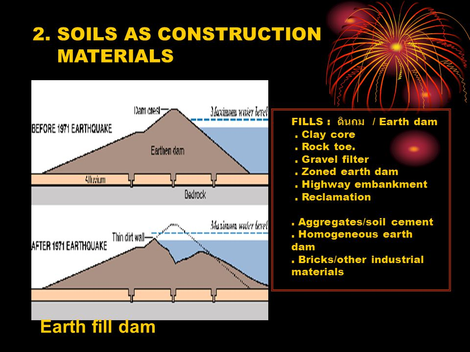 2. SOILS AS CONSTRUCTION MATERIALS Earth fill dam