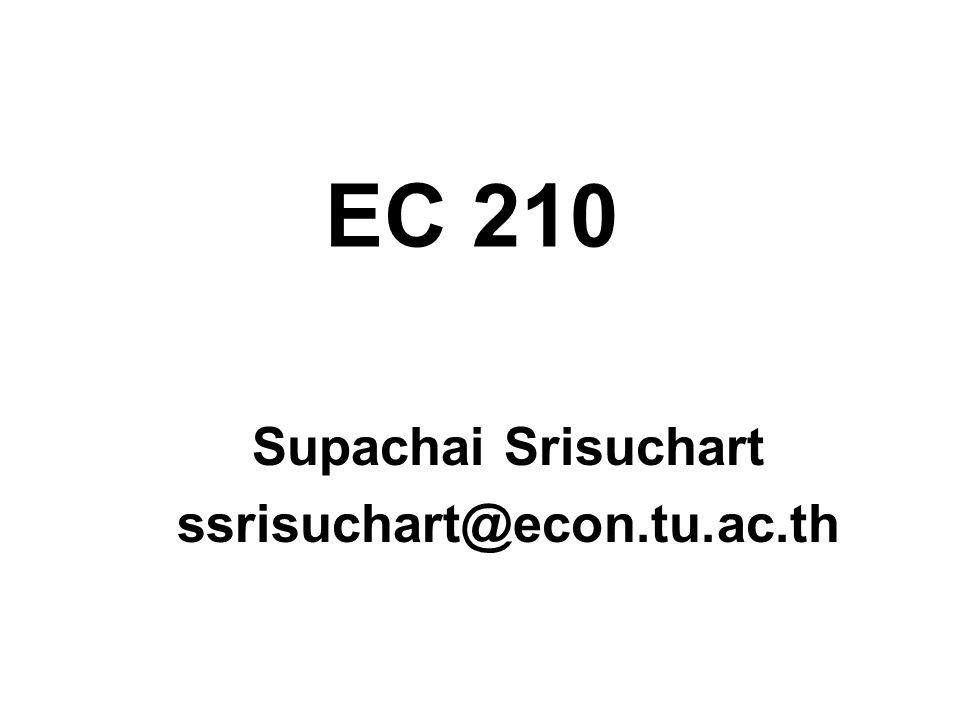 Supachai Srisuchart ssrisuchart@econ.tu.ac.th