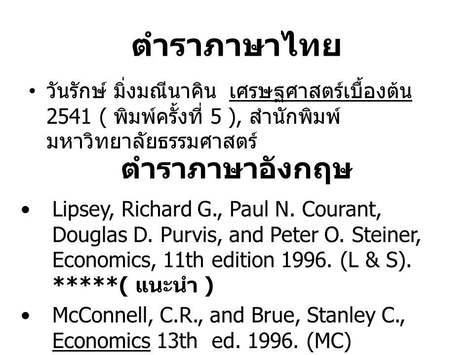 ตำราภาษาไทย ตำราภาษาอังกฤษ