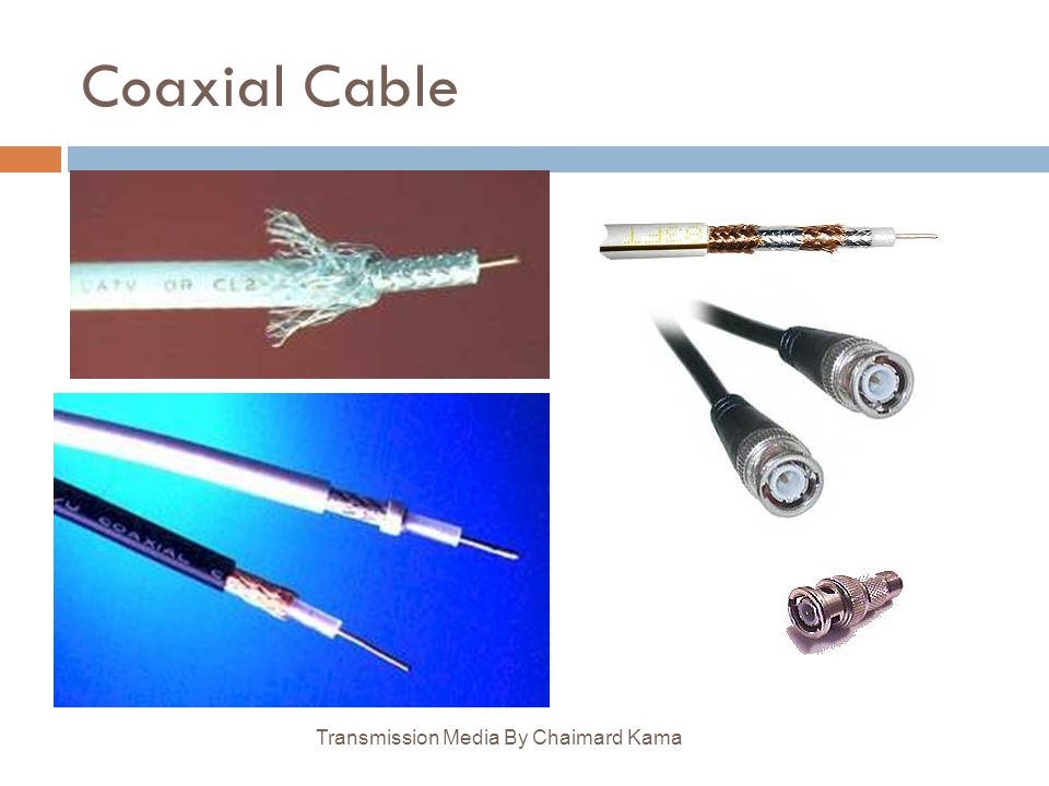 Coaxial Cable Transmission Media By Chaimard Kama