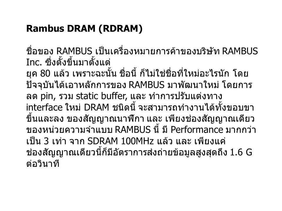 Rambus DRAM (RDRAM)