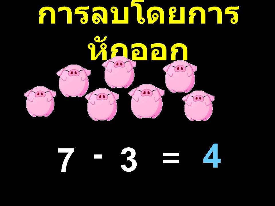 การลบโดยการหักออก - 4 7 3 =