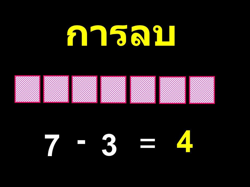 การลบ - 4 7 3 =