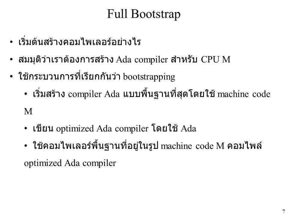 Full Bootstrap เริ่มต้นสร้างคอมไพเลอร์อย่างไร
