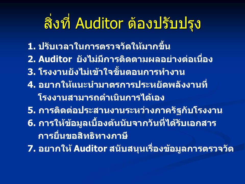 สิ่งที่ Auditor ต้องปรับปรุง