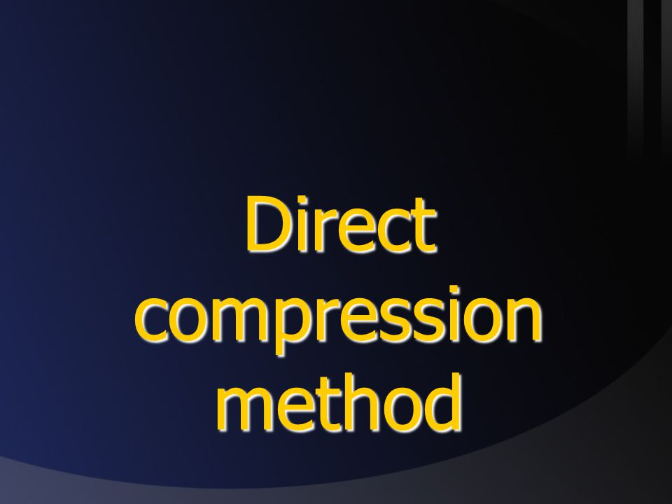 Direct compression method