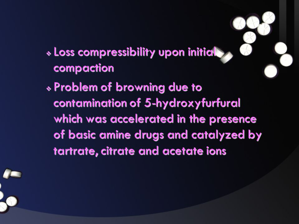 Loss compressibility upon initial compaction