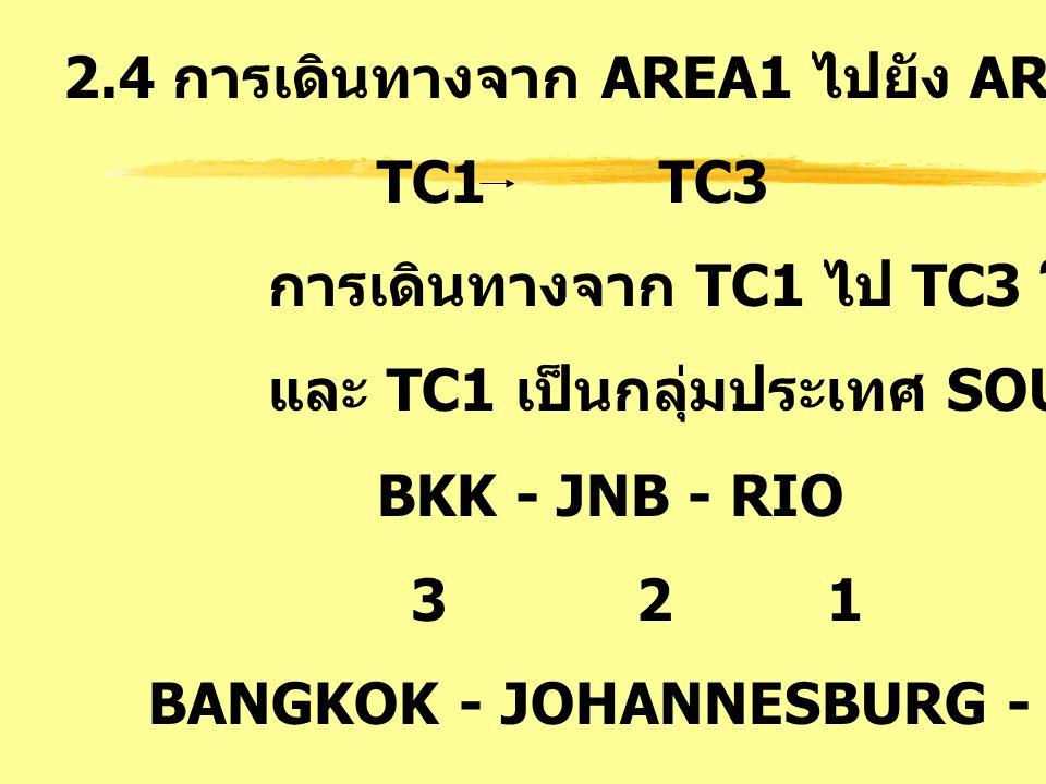 2.4 การเดินทางจาก AREA1 ไปยัง AREA3 : SA