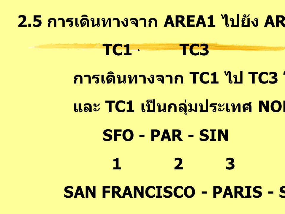 2.5 การเดินทางจาก AREA1 ไปยัง AREA3 : AT