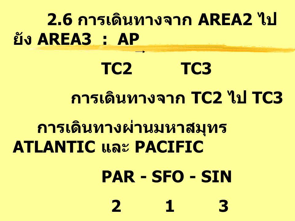 2.6 การเดินทางจาก AREA2 ไปยัง AREA3 : AP
