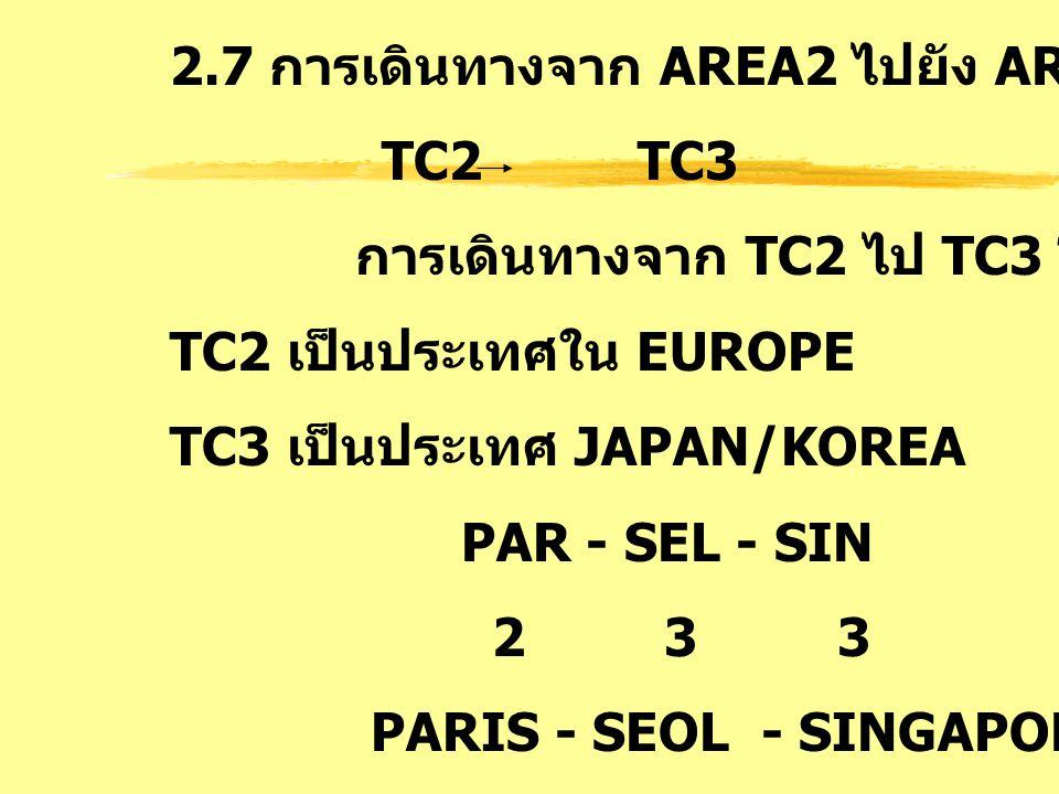 2.7 การเดินทางจาก AREA2 ไปยัง AREA3 : TS